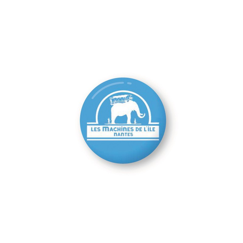 PETIT BADGE MACHINES DE L'ÎLE - BLEU