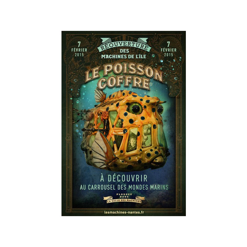 AFFICHE POISSON COFFRE