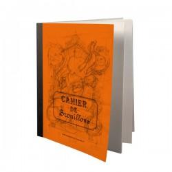 Cahier de brouillon orange