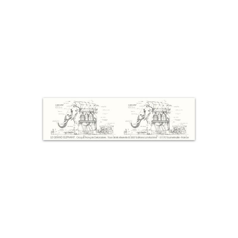 MARQUE PAGE CROQUIS - LE GRAND ELEPHANT