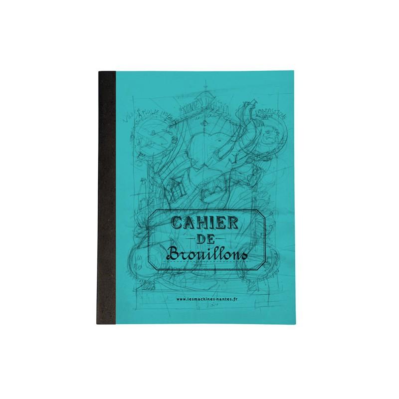 Cahier de brouillons bleu