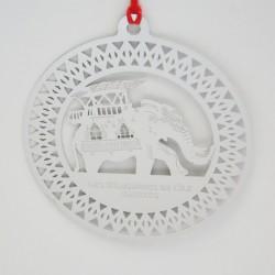 Carte Décoration de noël - Eléphant