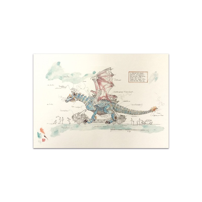 Croquis Dragon de Calais